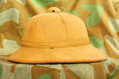 Antiquity cork helmet — Stock Photo