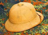 Antiquity cork helmet — Stock Photo