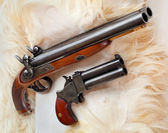 British colonial pistols from the early 19th century. — Stock Photo