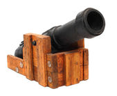 Naval gun from the Middle Ages. — Stock Photo