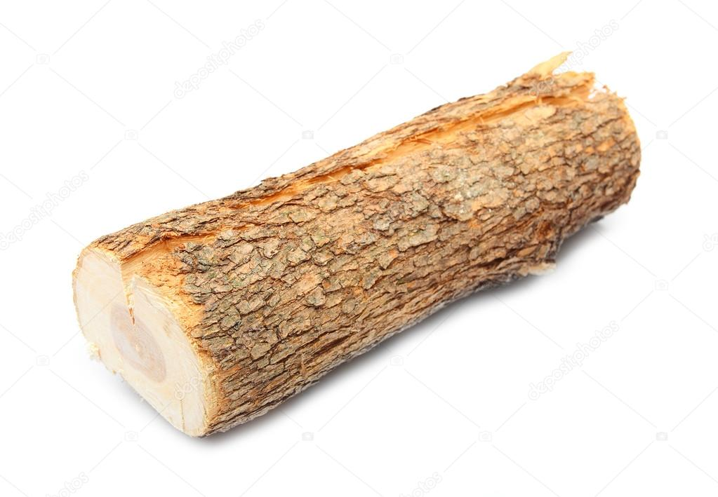 Cut log fire wood from common alder tree stock photo for Tree log