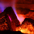 Burning brown coal - conceptual image - global warming. — Stock fotografie