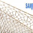 Fishing net and easy removable text. — Stock Photo