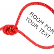 Noose of red rope — Stock Photo #33807143