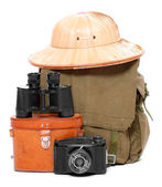 Vintage articles for travelers to the tropics. — Stock Photo