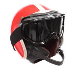 Retro helmet with goggles — Stock Photo