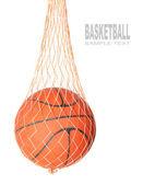 Basketball ball in a net — Stock Photo