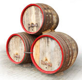Three barrels — Stock Photo