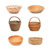 Bowls and baskets — Stock Photo