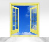 Open door to sky - conceptual image - business metaphor — Stock Photo