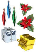 Christmas decorations set — Stock Photo