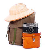 Vintage articles for travelers to the tropics. — Stok fotoğraf
