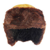 Fur cap for winter weather. — Stock Photo