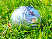 Bocce ball on a green grass — Stock Photo