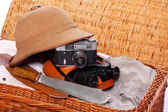 Vintage articles for travel to tropical destination. — Stock Photo