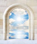 Door to sunny day — Stock Photo