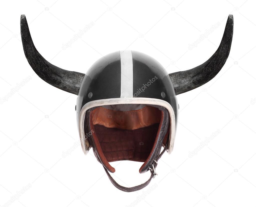 Retro motorcycle helme...