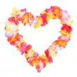 Heart from flowers necklace. Traditional Hawaiian decoration. — Stock Photo #34561753