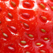 Strawberry - extremely close-up — Stock Photo
