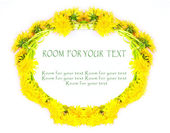 Dandelion wreath with easy removable text — Stock Photo