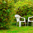 Chairs on a grass — Stock Photo