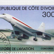 Stock Photo: Stamp Arospatiale-BAC Concorde