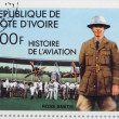A stamp printed in The Ivory Coast shows The aviator Ross Smith — Photo