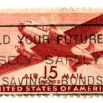 Stamp of aeroplane — Stock Photo