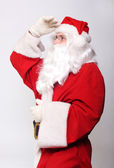 Santa looking — Stockfoto