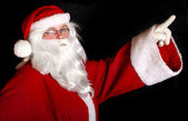 Santa showing copy space — Foto Stock