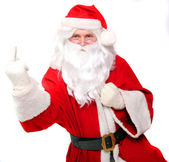Santa showing middle finger — Stock Photo
