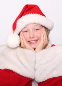 Menina no natal — Foto Stock