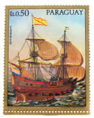 Postage stamp paraguay — Stock Photo