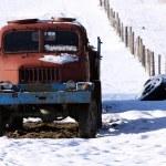Truck on snow — Stock Photo #35430385