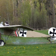 Stock Photo: Historic plane Fokker Eindecker