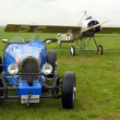 Постер, плакат: Historic racer and monoplane