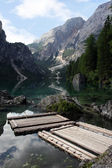 Beautiful lake Lago di Braies — Stock Photo