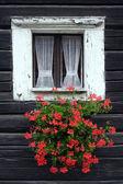 Rustic window — Stock Photo