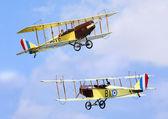 Two historic plane Curtiss JN-4 — Stock Photo