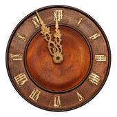 Wood Clock — Stock Photo