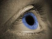 Blå mänskliga ögat — Stockfoto