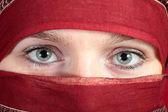 Arabian eyes — Stock Photo