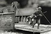 First Marine in Iwo Jima beach WW2 — Stock Photo