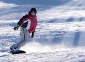 Woman skiing — Photo