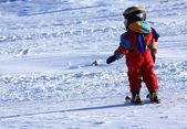 Kind skiën — Stockfoto