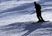 Skiier in mountain — Stock Photo