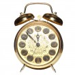 Brassy Alarm clock — Stock Photo