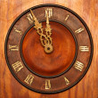Clock face of wood and ivory — Stockfoto