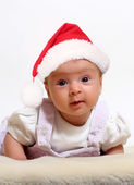 Baby in Santa  hat — Stock Photo