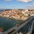 Train over Dom Luis I bridge, Porto, Portugal — Stock Photo #12643858